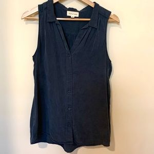 Anthropologie Cloth & Stone Tank Button Up